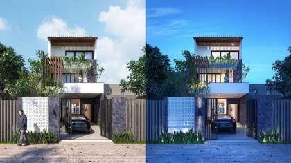 Mẫu thiết kế nhà phố 2 tầng giá rẻ đầy đủ công năng ở Hà Nội
