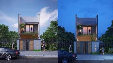 Đẹp lộng lẫy với thiết kế nhà phố 2 tầng 1 tum hiện đại đẹp!