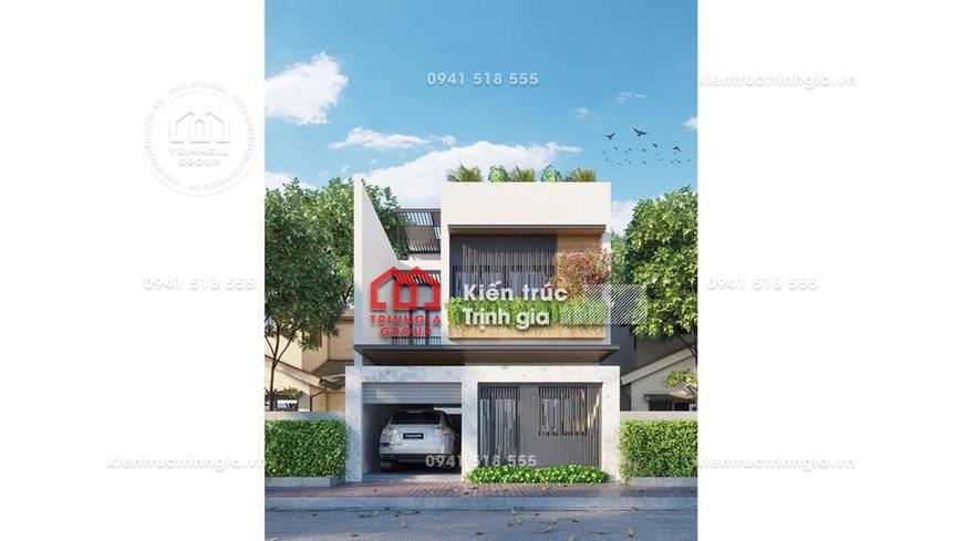 Tậu ngay mẫu thiết kế nhà phố 2 tầng đẹp đầy đủ công năng!