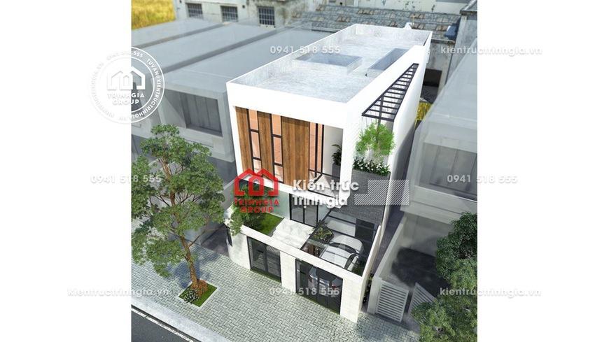 Mẫu thiết kế nhà phố 2 tầng trên mảnh đất 7x15m ở Hải Phòng