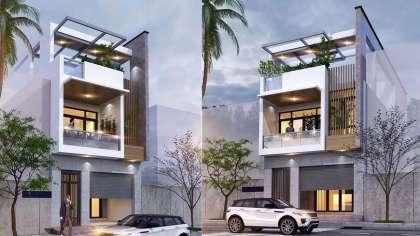 Mẫu thiết kế nhà phố 2 tầng đơn giản đẹp chỉ dưới 500 triệu