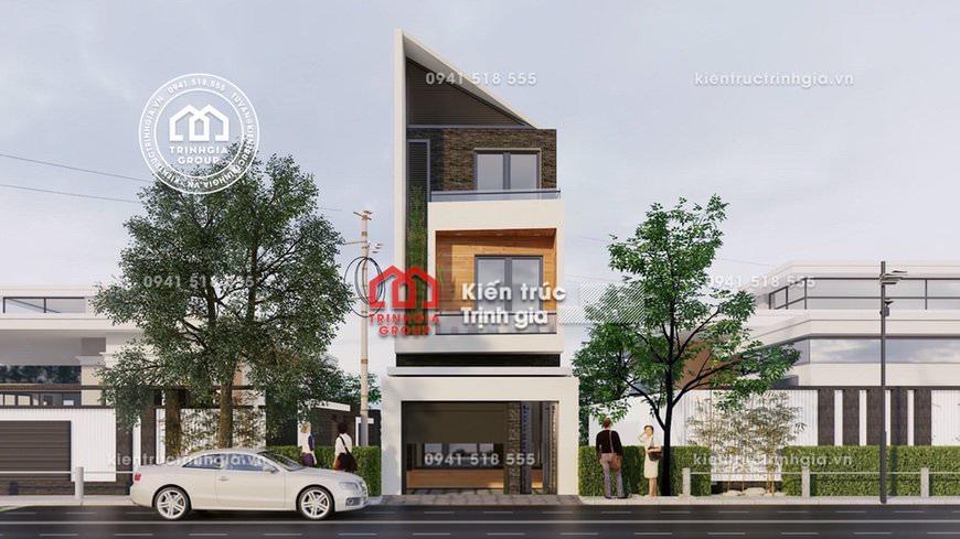 Mẫu thiết kế nhà phố 3 tầng đẹp hiện đại với không gian xanh