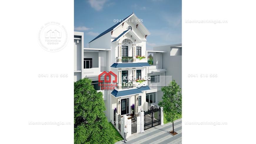 Bản vẽ thiết kế kết cấu nhà phố 3 tầng hiện đại thông minh