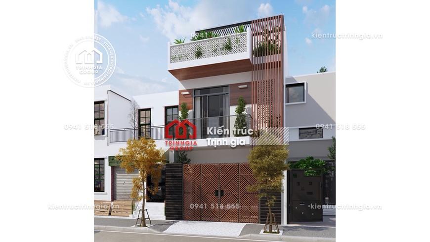 Mẫu thiết kế nhà phố 3 tầng 7x12m hiện đại có sân thượng đẹp