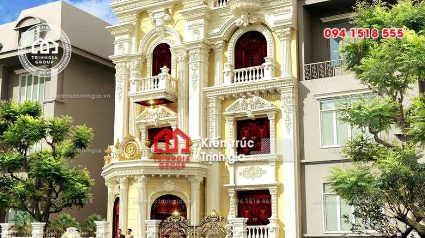 Thiết kế nhà phố 8m mặt tiền phong cách tân cổ điển đẹp nhất