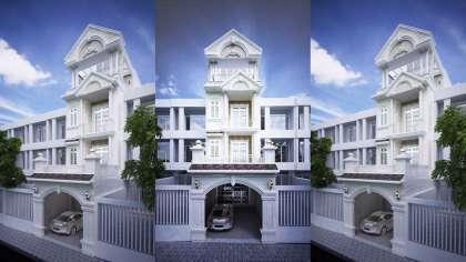Bật mí bản thiết kế nhà phố đẹp kết hợp phòng trà trang nhã