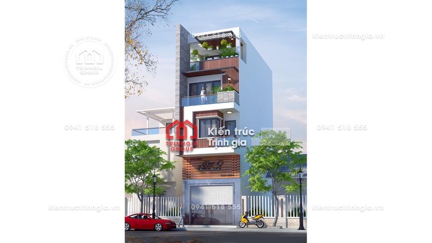 Hoàn hảo của kết hợp kinh doanh trong thiết kế nhà phố 80m2
