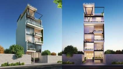 Mẫu thiết kế nhà phố kinh doanh kết hợp cho thuê văn phòng