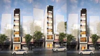 Nhà ở kết hợp kinh doanh với thiết kế nhà phố 6x17m hiện đại