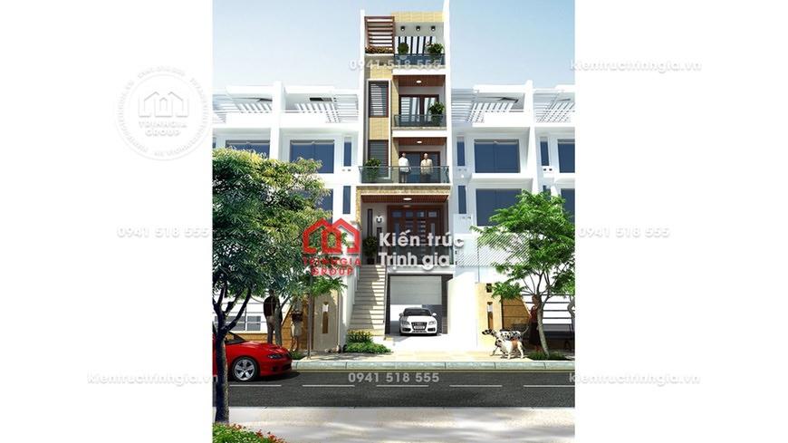 Thiết kế nhà phố 7x20m kết hợp kinh doanh cho thuê văn phòng