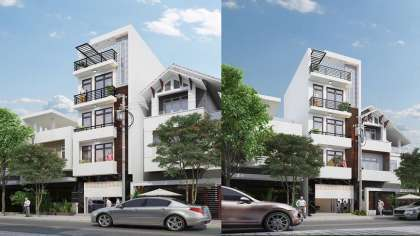 Mê mẩn trước mẫu thiết kế nhà mặt phố 5 tầng đẹp, hiện đại!
