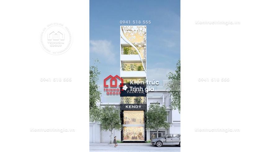 Thiết kế nhà mặt phố để kinh doanh 7 tầng kết hợp thang máy