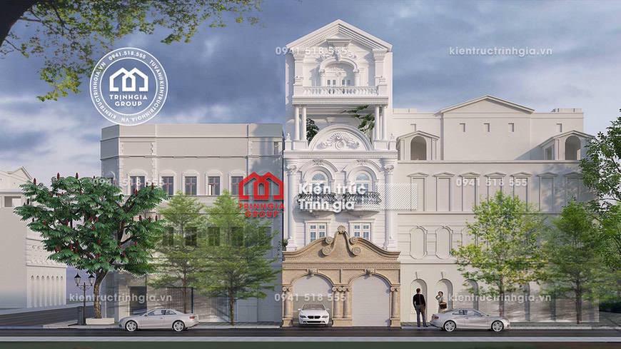 Mẫu thiết kế nhà phố đẹp mê mẩn với phong cách tân cổ điển