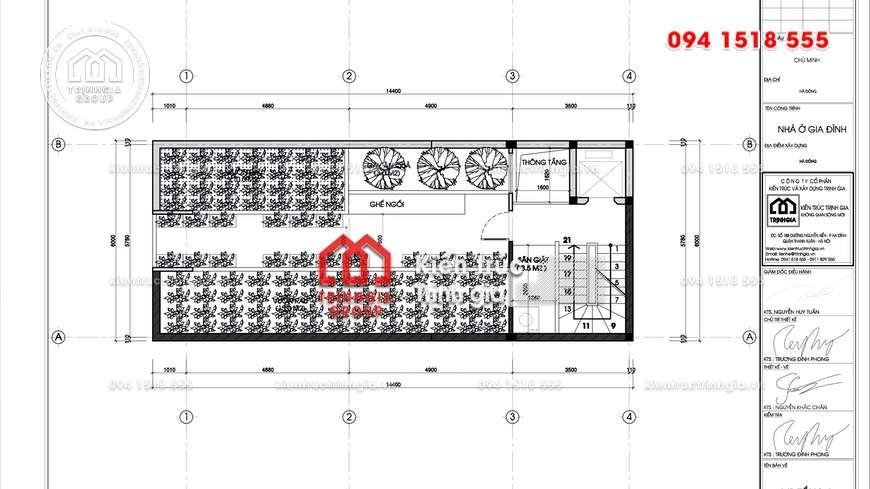 Mẫu thiết kế nhà phố 5x11m 5 tầng kiến trúc tân cổ điển đẹp!