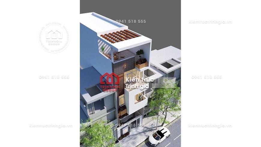 Thiết kế nhà phố 7x10m kiến trúc hiện đại kết hợp kinh doanh