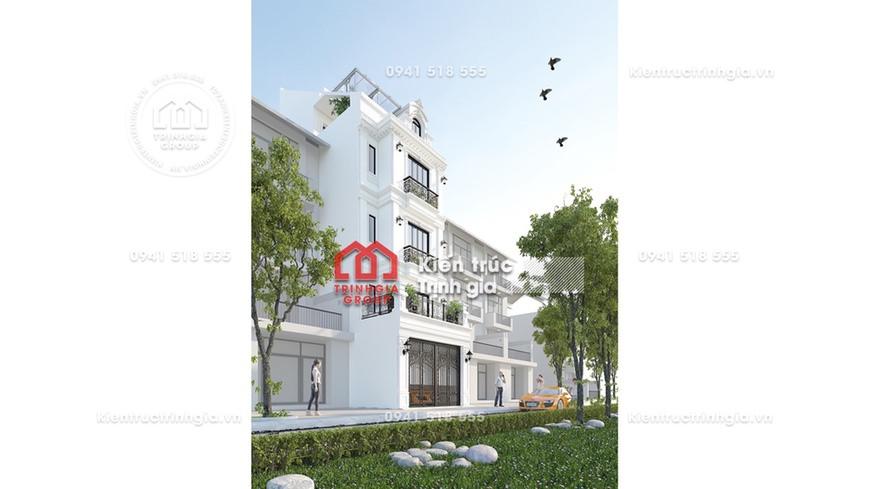 Kiến trúc cổ điển đẹp ấn tượng trong thiết kế nhà phố 7x20m
