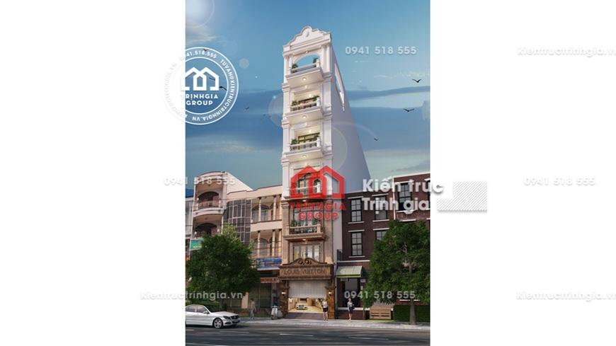 [Xem ngay] Mẫu thiết kế nhà phố rộng 6m kiến trúc Pháp đẹp!