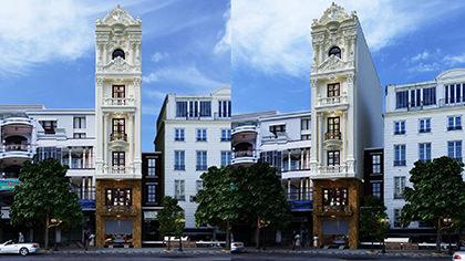 Động lòng trước thiết kế nhà phố 7x12m kiến trúc tân cổ điển