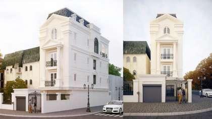 Thiết kế nhà phố chiều rộng 7m kiến phong cách pháp cổ điển