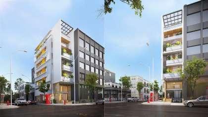 Bản vẽ mẫu thiết kế nhà phố 10x20m 7 tầng kết hợp kinh doanh