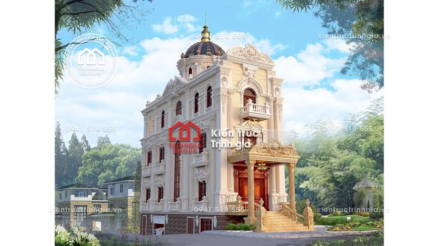 Thiết kế nhà chia lô đẹp ấn tượng với phong cách tân cổ điển