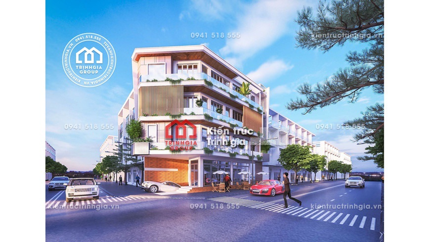 Bản vẽ mẫu thiết kế quán cafe nhà phố sang trọng hiện đại!