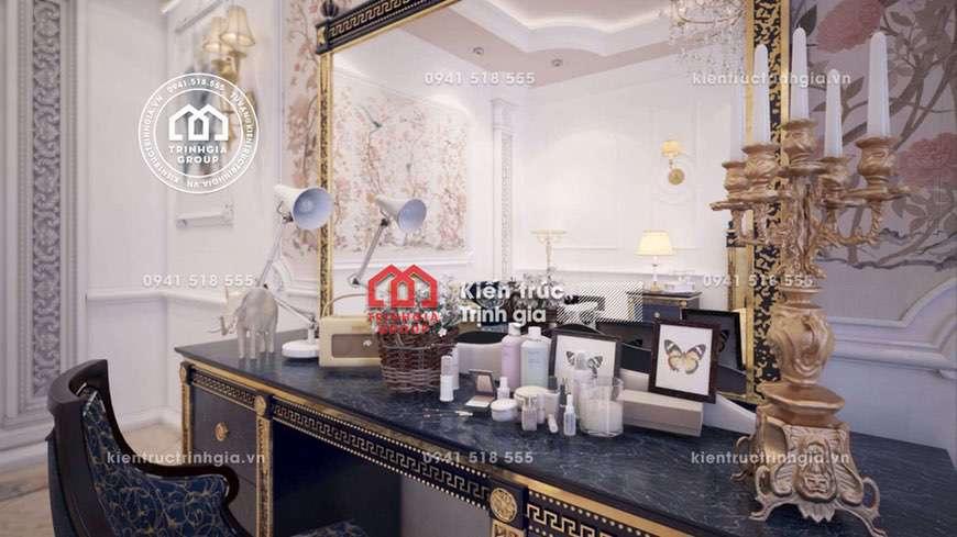 Sang trọng - Thiết kế nội thất biệt thự kiểu Pháp cổ điển