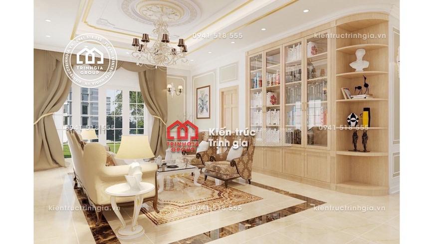 Thiết kế nội thất biệt thự liền kề trong khu độ thị ở Hà Nội