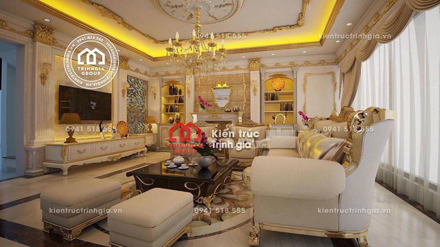 Thiết kế nội thất lâu đài kiến trúc Pháp cổ điển ở Hải Dương
