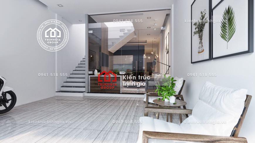Thiết kế nội thất hiện đại đơn giản cho nhà mặt phố ở Hà Nội