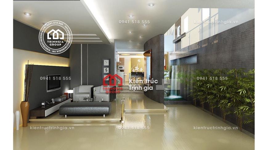 Thiết kế nội thất nhà phố hiện đại đẹp ở mặt đường TP. HCM