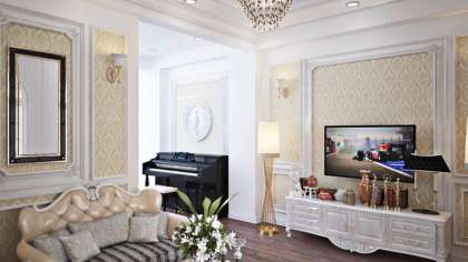 Thiết kế nội thất nhà phố, nhà ở theo phong cách tân cổ điển