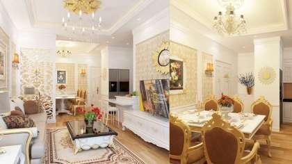Mẫu thiết kế nội thất chung cư sang trọng đẹp ở Royal City