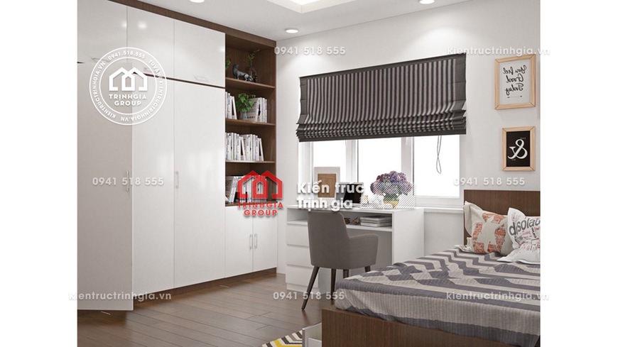 Mẫu thiết kế nội thất chung cư 2 phòng ngủ đẹp ở Linh Đàm