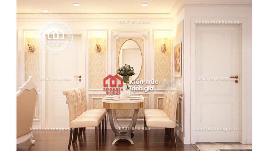 Mẫu bản vẽ thiết kế nội thất chung cư tân cổ nhẹ nhàng đẹp