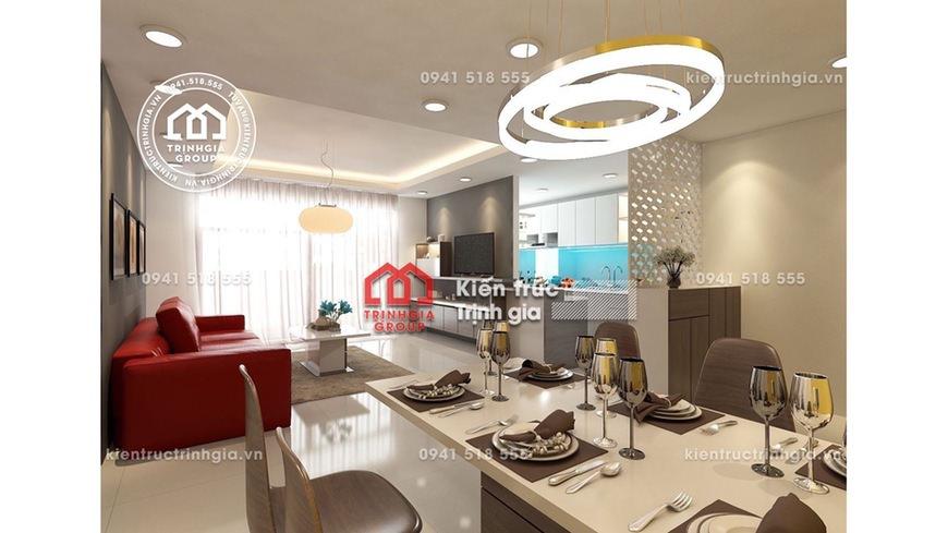 Thiết kế nội thất chung cư Linh Đàm hiện đại đơn giản giá rẻ