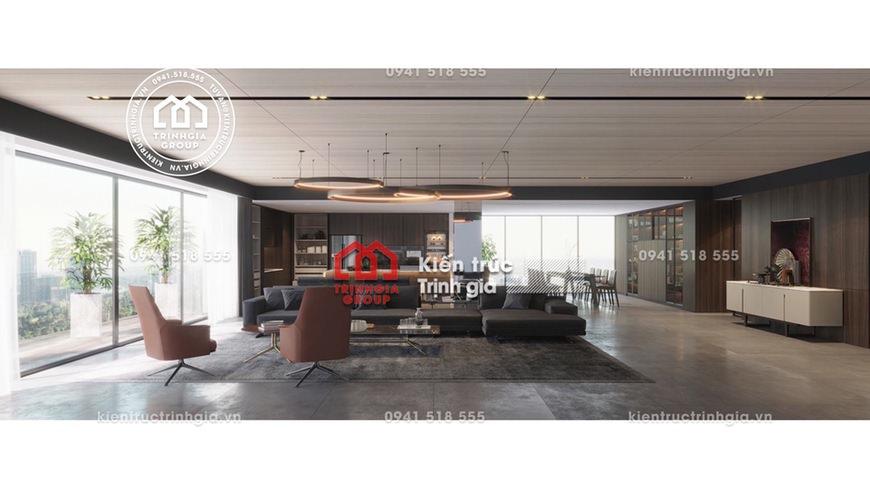 Bản vẽ mẫu thiết kế nội thất chung tư tầng Penthouse đẹp!