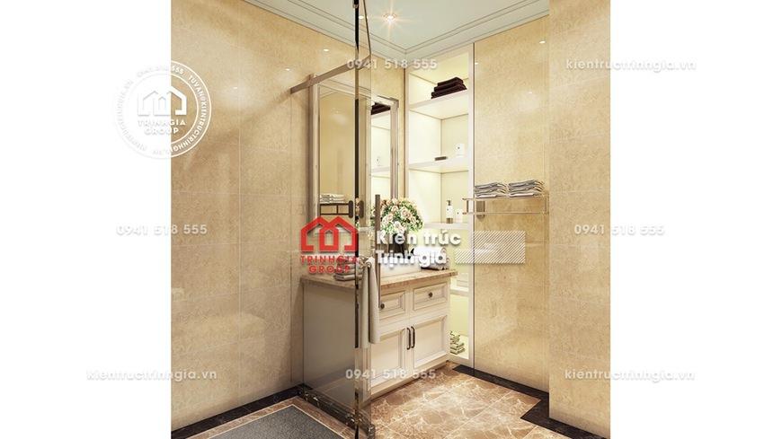 Thiết kế nội thất chung cư 70m2 đẹp theo kiểu Pháp cổ điển