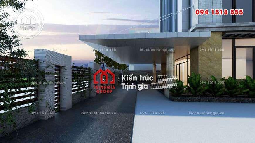 Thiết kế văn phòng của bộ công an TP Hà Nội tạo điểm nhấn