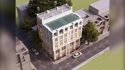 Thiết kế nhà phố kinh doanh bán hàng với kiến trúc kiểu Pháp